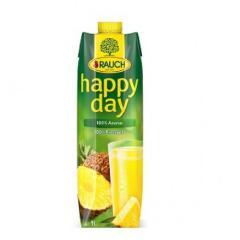 Happy Day gyümölcslé 1 L Tetra pack Ananász 100%