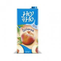 Hey-ho gyümölcslé 1 L Tetra pack Őszibarack 12%