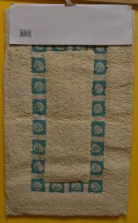 JBE szőnyeg pamut  40x70 cm 1 részes FÜRDŐSZOBAI - MINTÁS