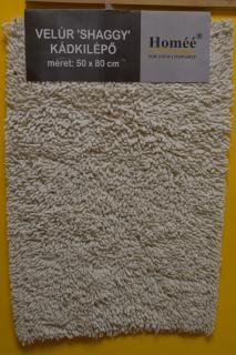 JBE szőnyeg pamut  50x80 cm 1 részes FÜRDŐSZOBAI - Velúr (Shaggy)