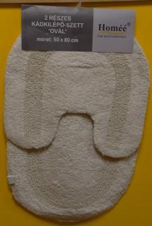 JBE szőnyeg szett pamut  50x80 / 50x50 cm 2 részes FÜRDŐSZOBAI - OVÁLIS