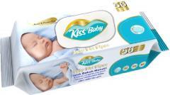 KissBaby nedves baba törlőkendő 56 db - 100% - sensitive -  FLIPTOP KSB.FLP.56 - Alkohol és parabén