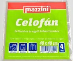 Mazzini celofán 40x40 cm 4 ív
