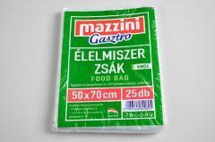 Mazzini élelmiszerzsák 25 db-os  50x70cm erős