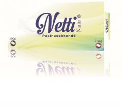 Netti papírzsebkendő 100 db-os 3 r. 100% cellulóz Natúr