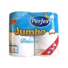 Perfex JUMBO Deluxe kéztörlő 2 t. 2 r. 2x200 lap 48 méter 100% celluloz