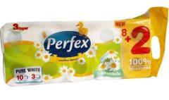 Perfex wc papír 8+2 t. 3 r. 120 lap 14,1 méter 100% cellulóz NEW Kamilla
