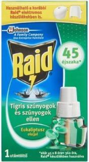 Raid szúnyogírtó utántöltő folyadék 27 ml - 45 éj - eukaliptusz