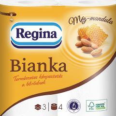 Regina Bianka wc papír 3 rtg. 150 lap 4 t. Méz-Mandula