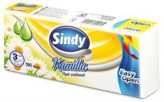 Sindy papírzsebkendő 100 db-os 3 r. 100% celluloz Kamilla