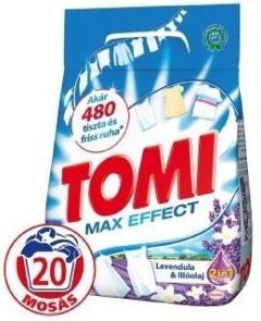 Tomi mosópor 1,4 kg 20 mosás fehér ruhához - Levendula és Illóolaj