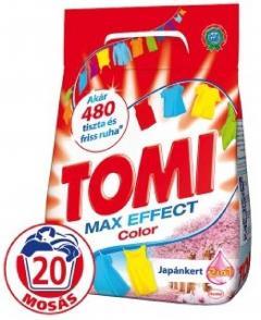 Tomi mosópor 1,17/1,4 kg 18-20 mosás Színes ruhához - Japánkert Color 2in1 20 mosásos