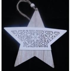 Troya ajtódísz fa 15 cm Csillag B22420
