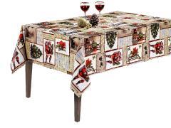 Troya asztalterítő 100 x 140 cm Viaszos vászon VASTAG  Karácsonyi