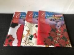 Troya Asztalterítő 150x110 cm textil  A19-124 Karácsonyi