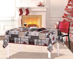 Troya asztalterítő 200 x 140 cm Viaszos vászon Karácsonyi