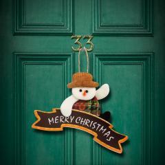 Troya dekor ajtódísz - karácsonyi 16 x 20 cm (55994B)