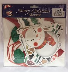 Troya dekoráció karácsonyi papír hajtogatható 2D/3D 3 méter LI72418