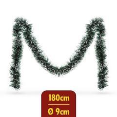 Troya Fenyő girland - havas - 180 cm - átmérő: 9 cm - (55969A)