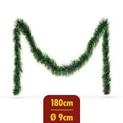 Troya Fenyő girland - ombre zöld - 180 cm - átmérő: 9 cm - (55969C)