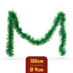 Troya Fenyő girland - sötét zöld - 180 cm - átmérő: 9 cm - (55969B)