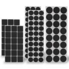 Troya filcpárna öntapadós 120db-os fekete (11110bk)
