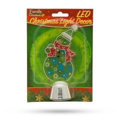 Troya Karácsonyi asztali LED dekor - fényes talppal - hóember - 14 cm - (55986C)