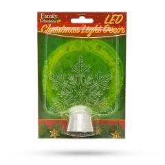 Troya Karácsonyi asztali LED dekor - fényes talppal - hópihe - (55986E)