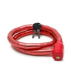 Troya Kerékpár görgős lakat 18 mm / 100 cm - piros (57078RD)