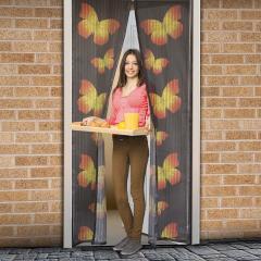 Troya szúnyogháló függöny ajtóra -mágneses- 100x210cm - pillangós (11398c)
