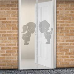 Troya Szúnyogháló függöny ajtóra -mágneses- 100x210cm - Fiú+Lány (11398F)