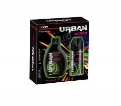 Urban ajándékcsomag Shower Action  (tusfürdő 250 ml & dezodor 150 ml)