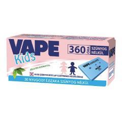 Vape elektromos szúnyogirtóhoz lapka 30db-os Kids zöld tea kivonattal