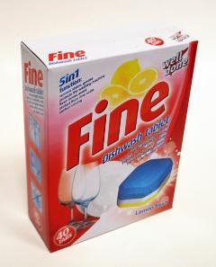 Well Done Fine mosogatógép tabletta 40db 800g Lemon Fresh 5in1